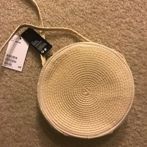 H&M Basketweave Rattan Bag - NWT